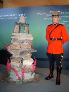 Mountie and Inukshuk